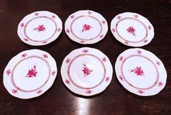 0O078 Lila Apponyi Herendi porcelán tányér készlet