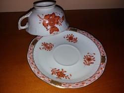 Makulátlan Antik Herendi Apponyi teás csésze aljjal