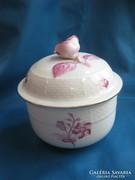 Rózsás herendi porcelán virágmintás bonbonier / doboz