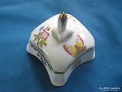 Herendi porcelán Viktória mintás bonbonier/doboz RITKA forma