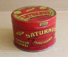 Piros Saturnus Fénymáz fém doboz