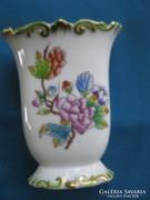 Régi herendi porcelán díszes Viktória váza ibolyaváza 9 cm