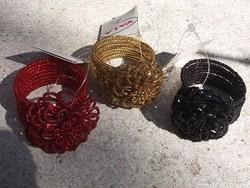 Gyöngy szalvétagyűrű 3 szín kézi munka, ajándékba is