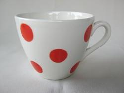 Gránit kerámia piros pöttyös kávés kapucsínós csésze