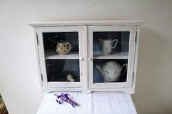 Provence vintage fali polc, kis szekrény