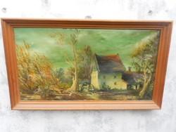 Tanya.Antik olaj festmény.