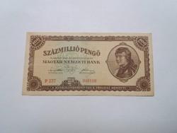 100 Millió  Pengő 1946-os   bankjegy!