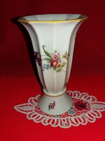 Antik  gyönyörű 1939 Ilmenau szecessziós virágmintás porcelán tölcsérváza 16 X 10 cm