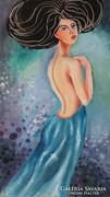 BLUE DREAM-B.Tóth Irisz festmény AUKCIÓN