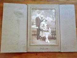 Antik, ritka fotókülönlegesség Házaspár portré