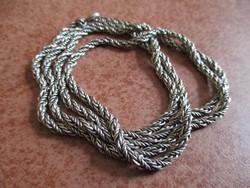 Hosszú ezüst nyaklánc