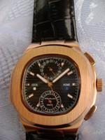 Rózsa aranyozott ffi quarc időmérő óra japán szerkezettel
