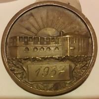 P.S.E.1899.Postás Sport Egylet 1937, bronzérem 38 mm az átmérő, kétoldalas