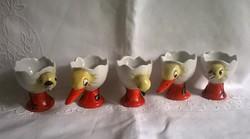Porcelán tojástartó, 5 db, Stollwerck felirattal