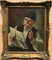Pólya Tibor - Pipázó férfi
