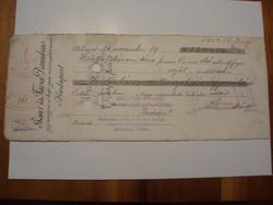 Ganz és Társa Danubius Váltó 1926 Ritka.