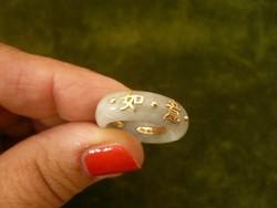 Kínai jade gyűrű arany montírozással