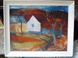 Zámbó Kornél : Ősz képcsarnokos festmény