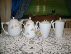 Porcelán kiöntő - négy darab - jelzettek
