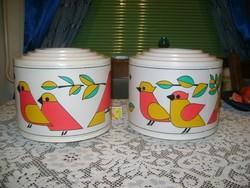 Retro madaras lámpabúra - két darab - gyermek szobába