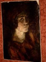 Székely Bertalan fiatal lány portréja!