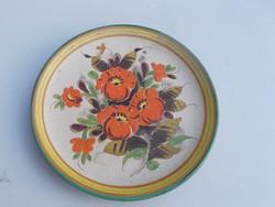 Kerámia virág mintás falitányér falidísz (AA-0927)