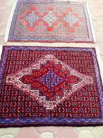 Kettő darab kézi csomózású perzsa szőnyeg