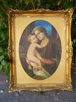 Mária és a gyermek Jézus-festmény.