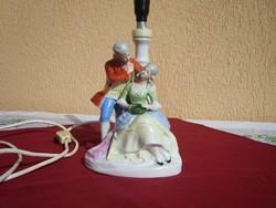 Antik Barokk páros porcelán lámpa
