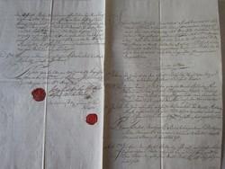 MAGYARÓVÁR MOSONMAGYARÓVÁR 1820 OKIRAT OKMÁNY OKLEVÉL DOKUMENTUM KÉZIRAT VIASZ PECSÉT