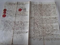 MAGYARÓVÁR MOSONMAGYARÓVÁR 1809 OKIRAT OKMÁNY OKLEVÉL DOKUMENTUM KÉZIRAT VIASZ PECSÉT