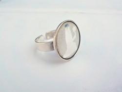 Állítható szűz horoszkópos ezüst gyűrű 835-ös