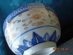 JINGDEZHEN-Sárkányos-kézzel festett-aranyozott tál-11,5x5,5 cm