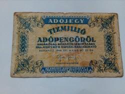 1946-os 10 Millió adópengő VF