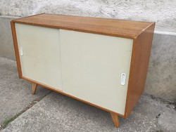 Mid century design komód, elhúzható ajtós sideboard