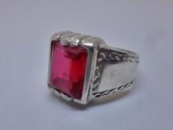 Csodás art deco rubinköves ezüst gyűrű