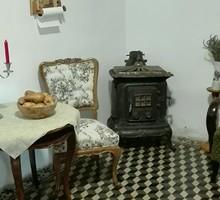 """Szalon kályha, régi, """"antik"""" dekoratív öntöttvas kályha, Európában ritkaság"""