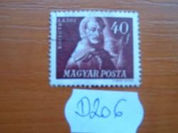 40 FILLÉR 1947 Szabadsághőseink Kossuth Lajos (1802-1894) D206