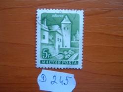 5 FORINT 1960 VÁRAK,KŐSZEG D245