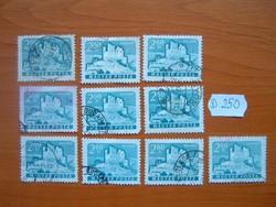 2,60 FORINT 10 DB 1961 VÁRAK,HOLLÓKŐ D250