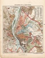 Budapest Fő- és Székváros térkép 1913, eredeti, atlasz, Kogutowicz Manó, vármegye, politika