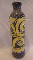 Zsűrizett retro iparművész kerámia váza 39,5 cm
