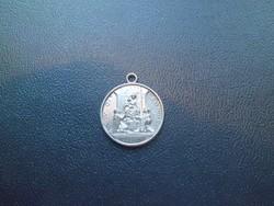 B.V.DI. POMPEI ezüstözött medál /gyönyörű állapotban/