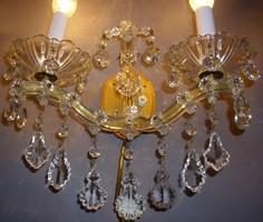 Mária Terézia kristály falikar 2db dupla