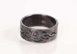 Különleges, patinás ezüst női gyűrű