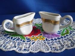2 db Zsolnay porcelán mini tejszín kiöntő
