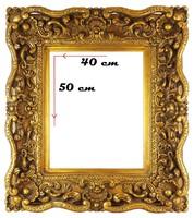 0O453 Antik hatású díszes aranyozott képkeret