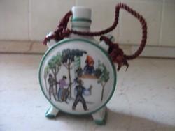 Antik kis porcelán  kulacs eladó! Zsolnay.