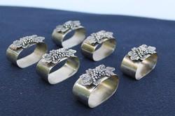 6 db ezüstözött szalvétagyűrű