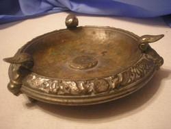 U3 Antik aufsats talp ezüstözött mitológiai körszegéllyel